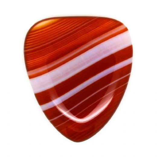 Agate Tones Red Banded  Agate 1 Guitar Pick